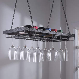 Wine Enthusiast Companies 8 Bottle Hanging Wine Rack