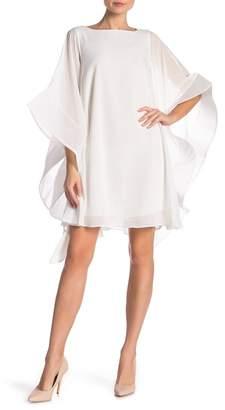 Gracia Wide Ruffle Sleeve Sheer Tunic Dress