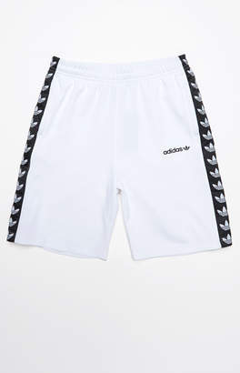 adidas TNT Tape White & Black Active Drawstring Shorts