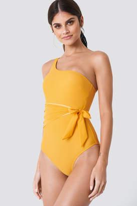 Trendyol Waist Knot Swimsuit Apricot