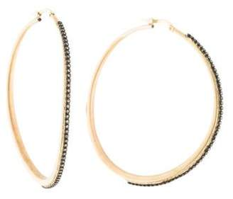 Armenta Diamond Large Hoop Earrings