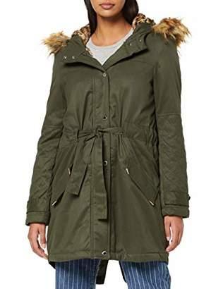 Morgan Women's 192-gela.n/kaki Coat, Green Khaki, 8 (Size: T36)