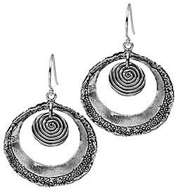Or Paz Sterling Open Circle Dangle Earrings