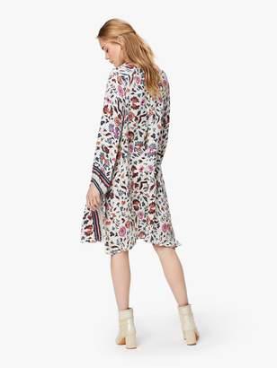 Natalie Martin Fiore Short Silk Dress - Wildflower Pearl