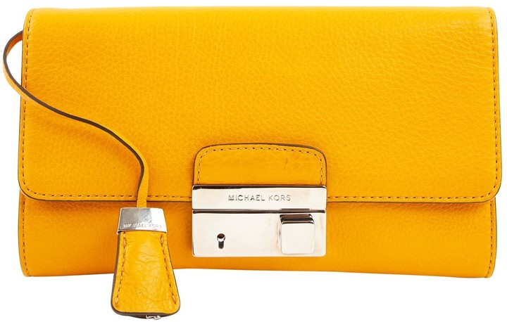 Michael Kors Leather clutch bag - YELLOW - STYLE