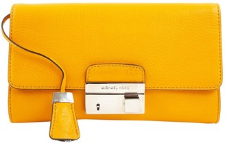 Michael Kors Yellow Leather Clutch Bag