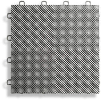 BlockTile 12 x 12 Deck and Patio Flooring Tile in Gray