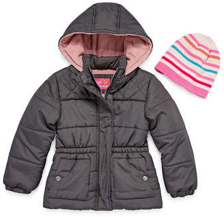 Pink Platinum Heavyweight Diamond Puffer Jacket - Toddler Girls