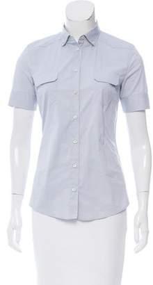 Prada Sport Short Sleeve Button Up Top