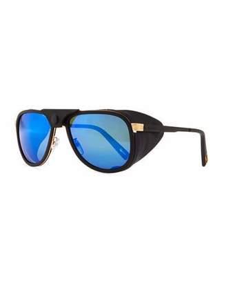 Vuarnet Glacier Pilot Sport Polarized Sunglasses with Detachable Leather Components
