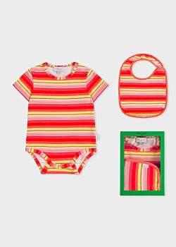 Paul Smith Baby Girls' Multi-Coloured Stripe Playwear Set