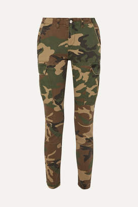 Amiri Stack Camouflage-print Stretch-cotton Skinny Pants - Army green