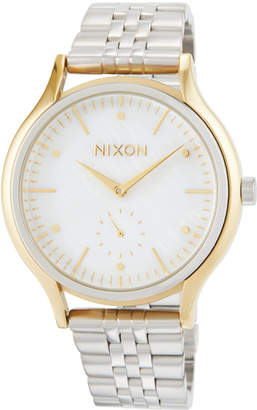 Nixon 38mm Sala Bracelet Watch, Silver/Golden