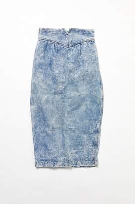 Urban Renewal Vintage Acid Wash Denim Pencil Midi Skirt