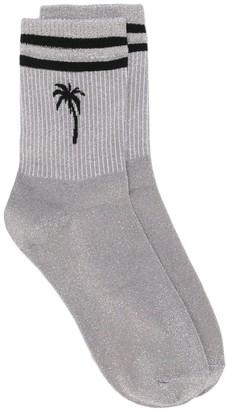 MSGM palm tree striped socks