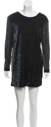 Kenzo Mini Shift Dress Black Mini Shift Dress