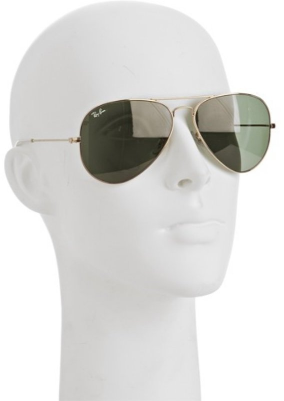 Ray-Ban gold metal 'Classic Aviator' sunglasses