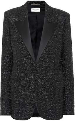 Saint Laurent Metallic lamé blazer