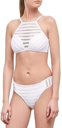 Kenneth Cole New York Women's High Neck Halter Hipster Bikini Swimsuit Top