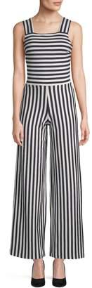 Armani Exchange Women's Squareneck Stripes Jumpsuit