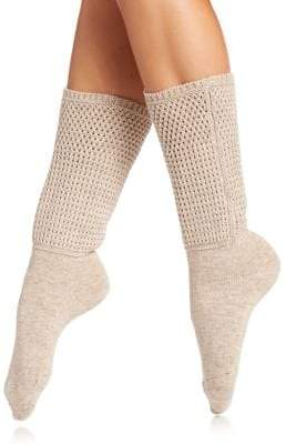 Natori Honey Comb Knit Crew Socks