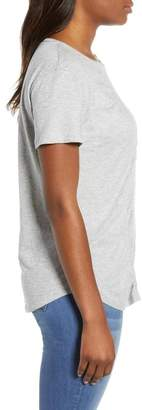 Caslon Gathered Front Crew Tee