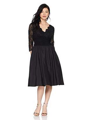 Jessica Howard Women's Petite Surplus Bodice Ruched Waist Dress with Shirred Skirt