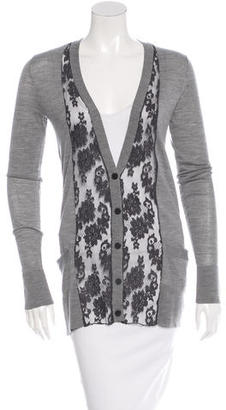 Vera Wang Wool Lace-Trimmed Cardigan $65 thestylecure.com