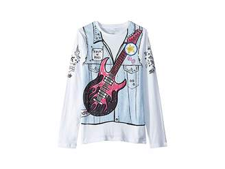 Stella McCartney Bella Printed Denim Vest Long Sleeve Tee (Toddler/Little Kids/Big Kids)