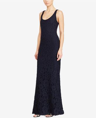 Lauren Ralph Lauren Floral-Lace Gown $260 thestylecure.com
