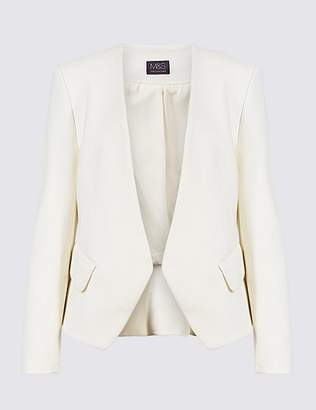 Marks and Spencer Open Front Collarless Blazer