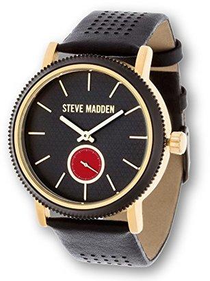 Steve Madden (スティーブ マデン) - Steve Madden Men 's Classic Luxury FashionアナログステンレススチールWatch W /快適なレザーバンド
