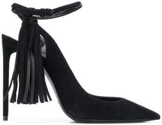 Saint Laurent tassel-embellished slingback pumps