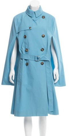 CelineCéline Double-Breasted Trench Poncho
