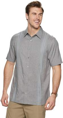 Haggar Big & Tall Regular-Fit Microfiber Easy-Care Button-Down Shirt