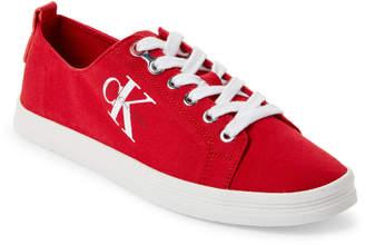 Calvin Klein Red Monna Logo Low-Top Sneakers