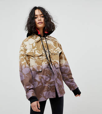 Reclaimed Vintage Revived Military Jacket In Dip Dye