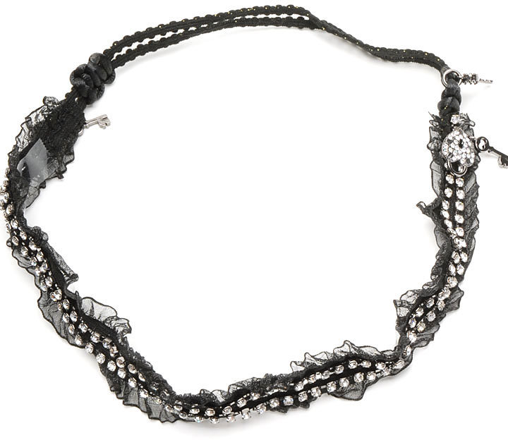 Tulle Headband w/Lock & Key Charms