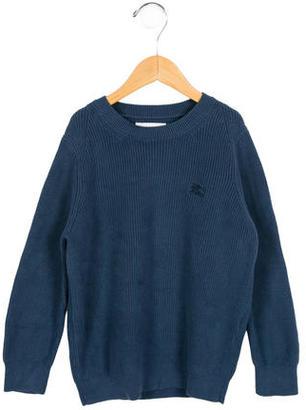 Burberry Boys' Rib Knit Crew Neck Sweater $45 thestylecure.com