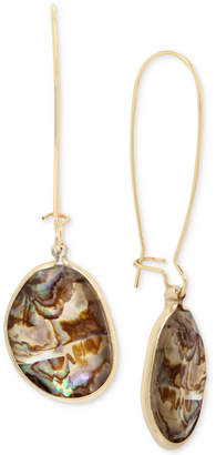 Kenneth Cole New York Gold-Tone Abalone Stone Drop Earrings