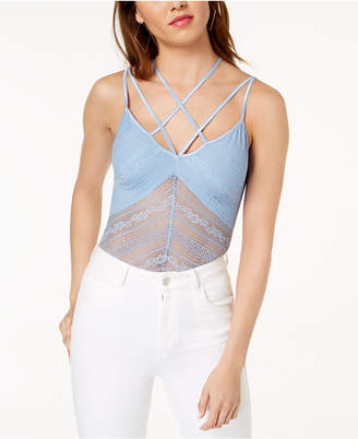 GUESS Nadine Strappy Illusion Lace Bodysuit
