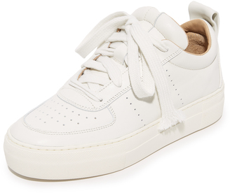 Helmut Lang Pad Low Top Sneakers $395 thestylecure.com