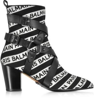Balmain Stripe Signature Logo Jilly Boots