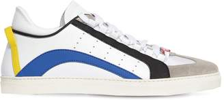 DSQUARED2 New 551 Leather Rubber Suede Sneakers