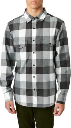 7 Diamonds Archer Trim Fit Buffalo Check Sport Shirt