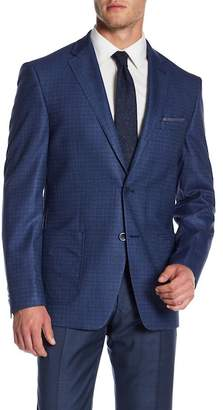 Vince Camuto Medium Blue Two Button Notch Collar Jacket