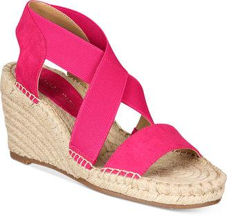 Adrienne Vittadini Charlene Platform Wedge Sandals Women's Shoes $69 thestylecure.com