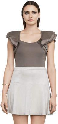 BCBGMAXAZRIA Mirabelle Layered-Sleeve Top