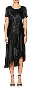 Sies Marjan Women's Sophie Liquid Satin Asymmetric Midi-Dress - Black
