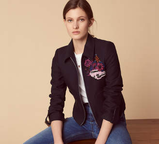 Sandro Cuba-inspired zipped embroided jacket